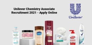Unilever Chemistry Associate Recruitment 2021 - Apply Online